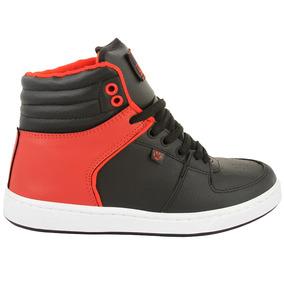 Zapatillas Krial Legend 6203 Negro Rojo Skate Hombre Mujer