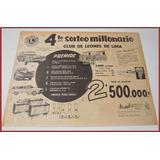 Dante42 Publicidad Antigua Retro Club Leones Lima 1961