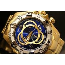 Relógio Invicta Ouro 18k 6471 Azul Na Caixa Frete Gratis