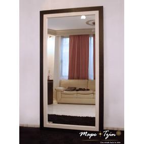 Espejo Cuerpo Completo Black-piel-acero Recamara-sala