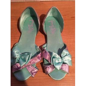 Disney Store Zapatos Flats La Sirenita Ariel Caracoles Menta