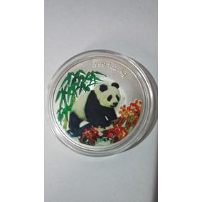 Moeda/medalha Chineza Atrai Boa Sorte Esmaltada/banho Prata