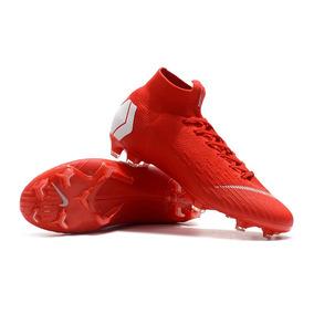 53ec24e4e3c14 Chuteiras Campo Nike Futebol Adultos - Chuteiras Vermelho no Mercado ...