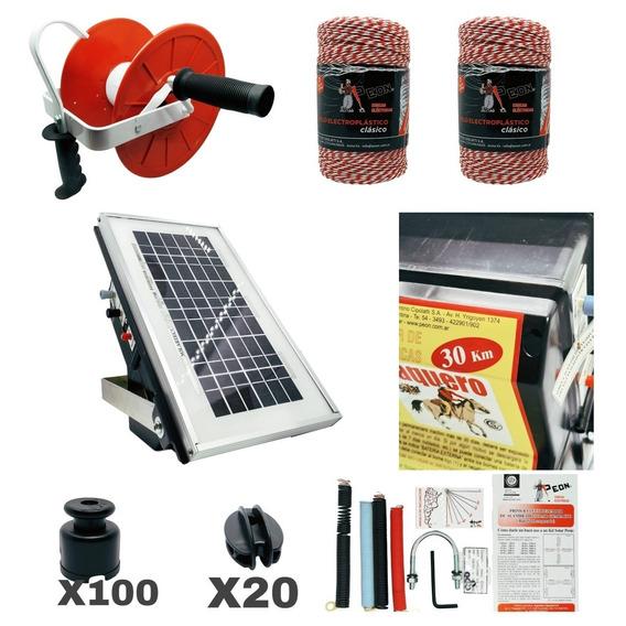 Boyero Solar 30km Compacto Más Kit De Instalación