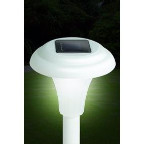 8 Lamparas De Jardín Led Blanco Solar Para Exterior