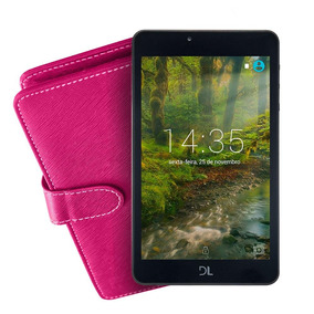 Kit Tablet Dl Futura T8, Tela 7, 8gb, Capa Pink C/ Teclado