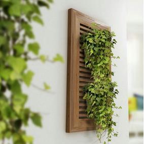 porta macetas jardn vertical de madera de tzalam