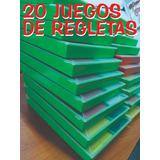 Lote Con 20 Regletas Cuisenaire/plástico/estuche/295 Pzas