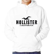 Blusa Moletom Hollister Capuz Bolso Camiseta Camisa Moleton