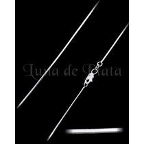 Lpcu003-55 Cadena Cola De Rata Diamant 1 Mm Plata .925 Taxco