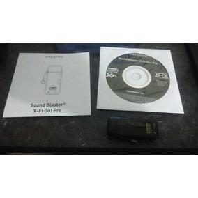 Audio Usb Creative Soundblaster X-fi Go! Pro Thx Remat Envio
