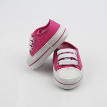 Tênis Bebê Feminino Pink Com Cadarço-m