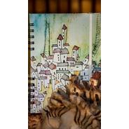 Cuaderno Anillado A5 Pueblito -80 Hojas