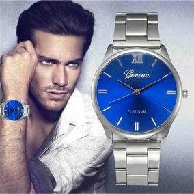 Relógio Prata De Aço Inoxidável Luxo Promoção Masculino