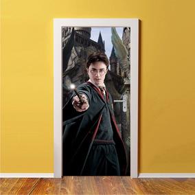 Adesivo De Porta 3d Decorativo Harry Potter