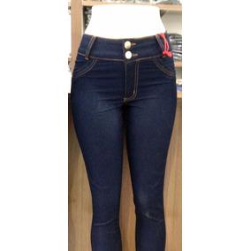 Calça Jeans Cintura Alta Skinny Cós Alto Moda Feminina 2017