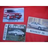 Lote Manual Instrucciones Renault 19 Original 1992 1998 1991