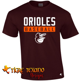Playera Beisbol Mlb Orioles B Mod L By Tigre Texano Designs