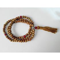 Rosario-pulsera Budista * Madera Olivo - Mantras Meditación