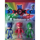 Pj Masks Heroes En Pijamas Set 3 + Comp/lego Reloj Ajd