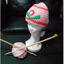 Gorro Tejido Al Crochet Personalizado En Dos Colores.