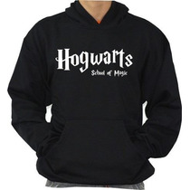 Blusa Hogwarts School Moleton Harry Potter Otima Qualidade!!
