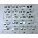 Conector Carga Jack Tablet Micro Usb V8 Kit Com 20 Pçs