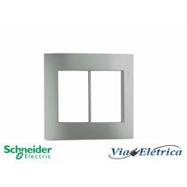 Espelho Para Tomada Prateado Schneider - Viaeletrica