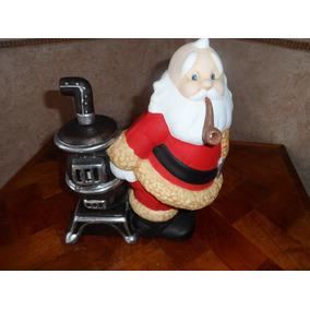 Figura De Ceramica Santa Con Estufa Pintado A Mano
