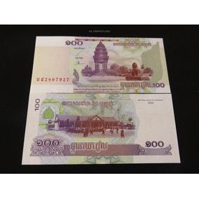 Billete Del Mundo Camboya 100 Riel Nuevo Unc