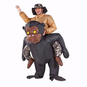 Fantasia Inflável Gorila Macaco Engraçada Festa Dinossauro