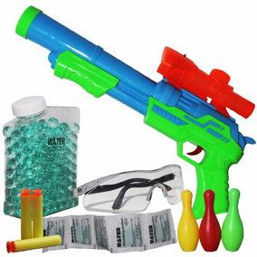 Super Arma Nerf Shooting Atira Dardos E Bolas Hidrogel