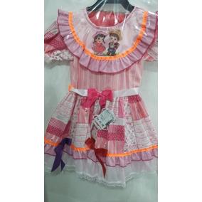 Vestido De Festa Junina Caipira Vermelho Tam 1 2 3 4 6 8 10