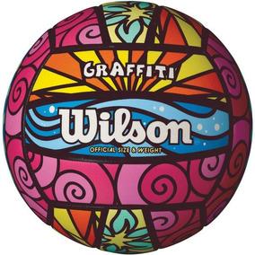Bola De Volei Graffiti Colorida Wilson