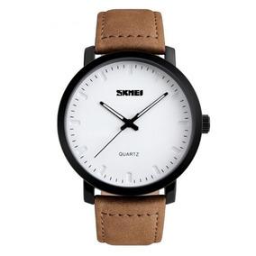 Relógio Masculino Skmei 1196 Analógico Branco/marrom Com Nf