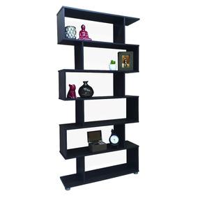 Biblioteca 5 Estantes 90cm Cubo Moderna Escalera Minimalista