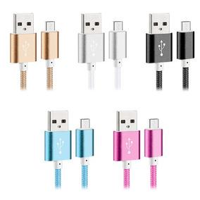 Cable Usb De Nylon Trenzado De Metal Para Iphone & Android