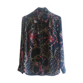 Camisa De Gasa Estampada Estilo Gucci Versace