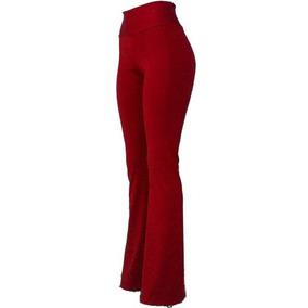 47ff2a2ee4 Calça Flare Feminina Boca De Sino Bailarina Cintura Alta Leg