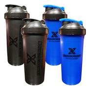 Kit Com 4 Coqueteleiras Preta Azul 700ml Extreme Nutrition