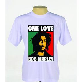 Camisas Camisetas Bob Marley Banda Reggae Manga Curta