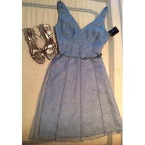 Vestido Fiesta Graduación Laundry By Shelli Segal T:4 Azul