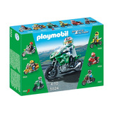 Playmobil Sport Motociclista Moto Deportiva 5524 Educando
