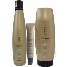 Shampoo Silver+máscara Aneethun Blond System+ampola Dose