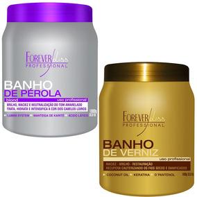 Forever Liss - Banho De Pérola 1kg + Banho De Verniz 1kg