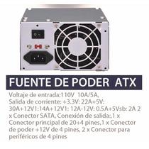 Fuente De Poder Computadora Atx 650w 20/24 Pines Sata-ide
