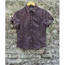 Linda Camisa Entallada Lunares Vintage Poco Uso Talle M L