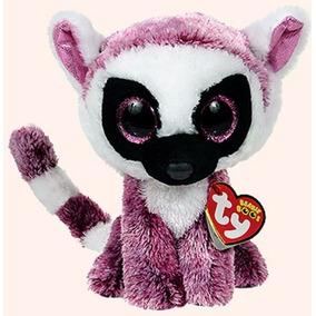 Peluche Ty Leeann Lemur Rosa 15 Cm Original
