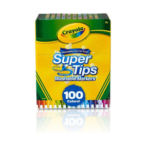 Canetinhas Laváveis Crayola Super Tips Markers Pack Com 100