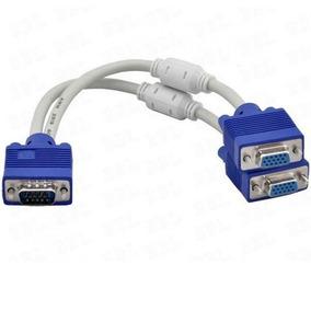 Cable Vga 2 Monitores De Macho A 2 Hembras Pc Computadora